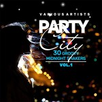 VARIOUS - Party City (30 Groovy Midnight Shakers) Vol 1 (Front Cover)