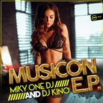 MIKY ONE & DJ KINO - Musicon EP (Front Cover)