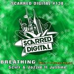 SC@R & JOZZI feat JUSTINE - Breathing (Mizz T & Hitman Remix) (Front Cover)