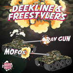 DEEKLINE & FREESTYLERS - Ray Gun/MOFOS (Front Cover)
