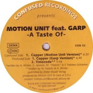 MOTION UNIT feat GARP - A Taste Of EP