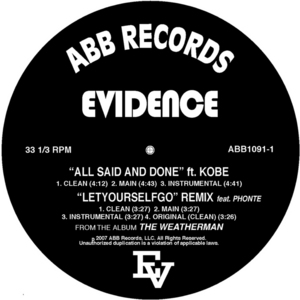 EVIDENCE - All Said & Done