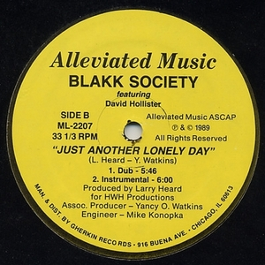 BLAKK SOCIETY feat DAVID HOLLISTER - Just Another Lonely Day