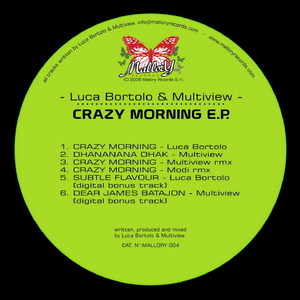 BORTOLO, Luca/Multiview - Crazy Morning EP