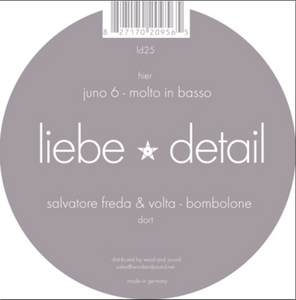 FREDA, Salvatore/VOLTA/JUNO6 - Bombolone / Molto In Basso