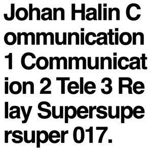 HALIN, Johan - Communication