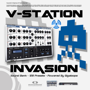 GIGALOOPS - V-Station Invasion Sound Bank (Sample Pack MIDI)