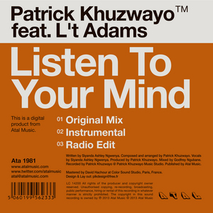 KHUZWAYO, Patrick feat LT ADAMS - Listen To Your Mind