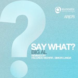 BIG AL - Say What (remixes)