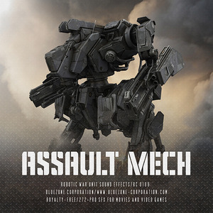 BLUEZONE CORPORATION - Assault Mech - Robotic War Unit Sound Effects (Sample Pack WAV/AIFF)