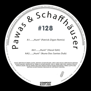 PAWAS/SCHAFFHAUSER - Hunt EP (Compost Black Label #128)