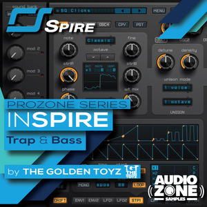 AUDIOZONE SAMPLES - InSPIRE Trap & Bass (Sample Pack Spire Presets)