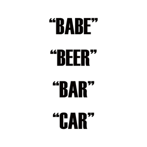 DUAL ACTION - Babe Beer Bar Car