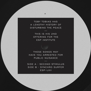 TOBY TOBIAS - Second Stimulus / Synchro Surfer