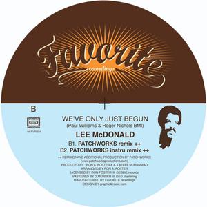 LEE MC DONALD - We've Only Just Begun (Remixes)