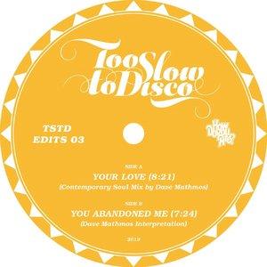 DAVE MATHMOS - Too Slow To Disco Presents: Dave Mathmos