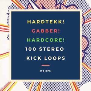 HARDTEKK SAMPLES - Hardtekk! Gabber! Hardcore! 100 Stereo Kick Loops 170 Bpm (Sample Pack WAV)