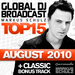 Global DJ Broadcast Top 15 August 2010