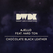 Chocolate Black Leather