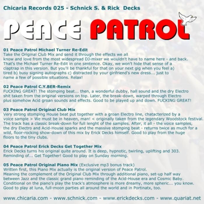 SCHNICK S & RICK DEX - Peace Patrol