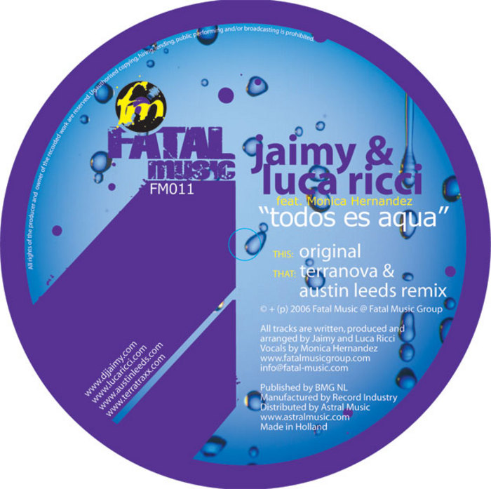 JAIMY & LUCA RICCI feat MONICA HERNANDEZ - Todos Es Aqua