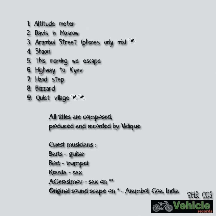 VALIQUE - Music For Potatoe Countries