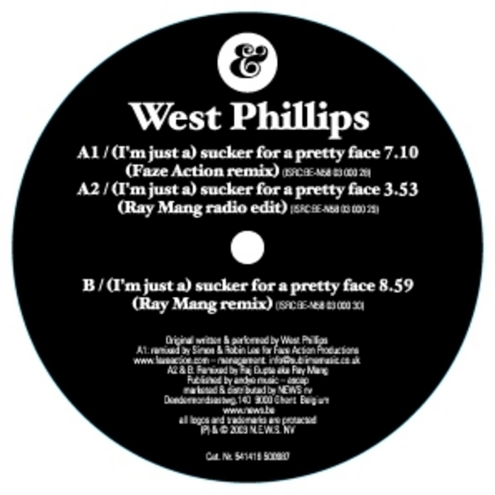 WEST PHILLIPS - (I'm Just A) Sucker For A Pretty Face