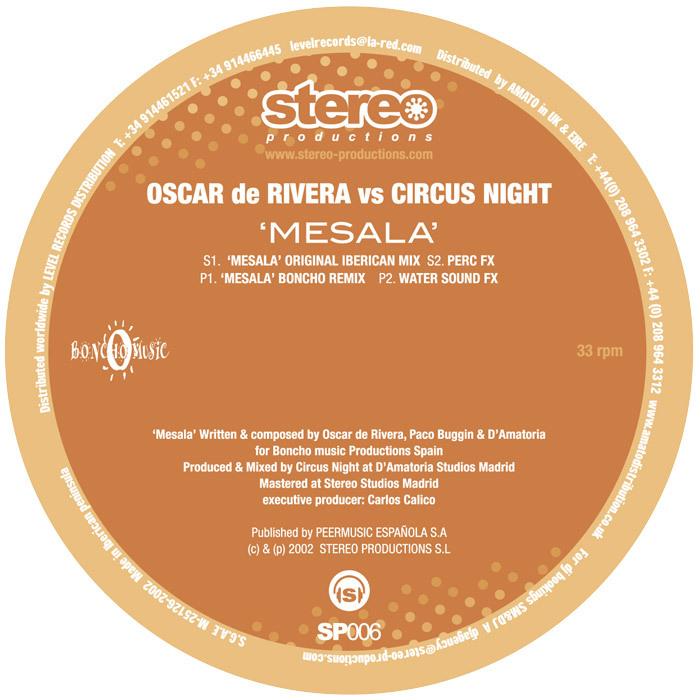DE RIVERA, Oscar vs CIRCUS NIGHT - Mesala