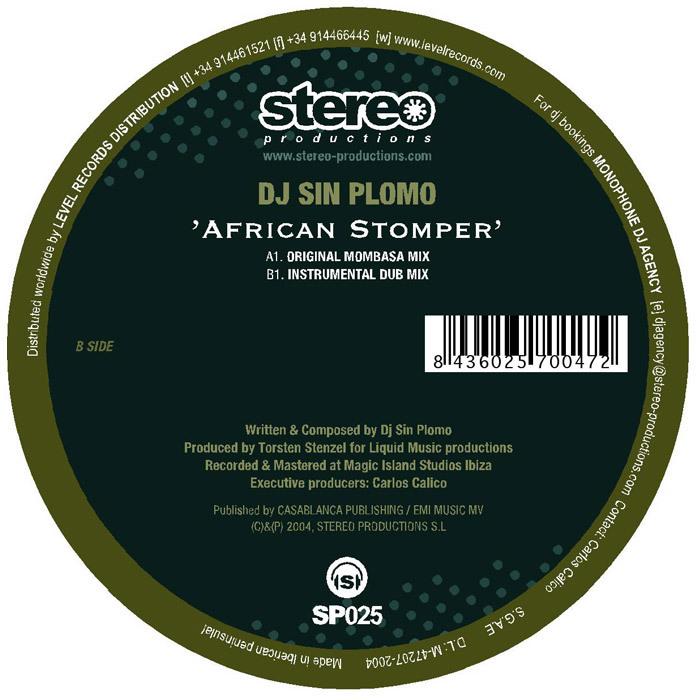 DJ SIN PLOMO - African Stomper