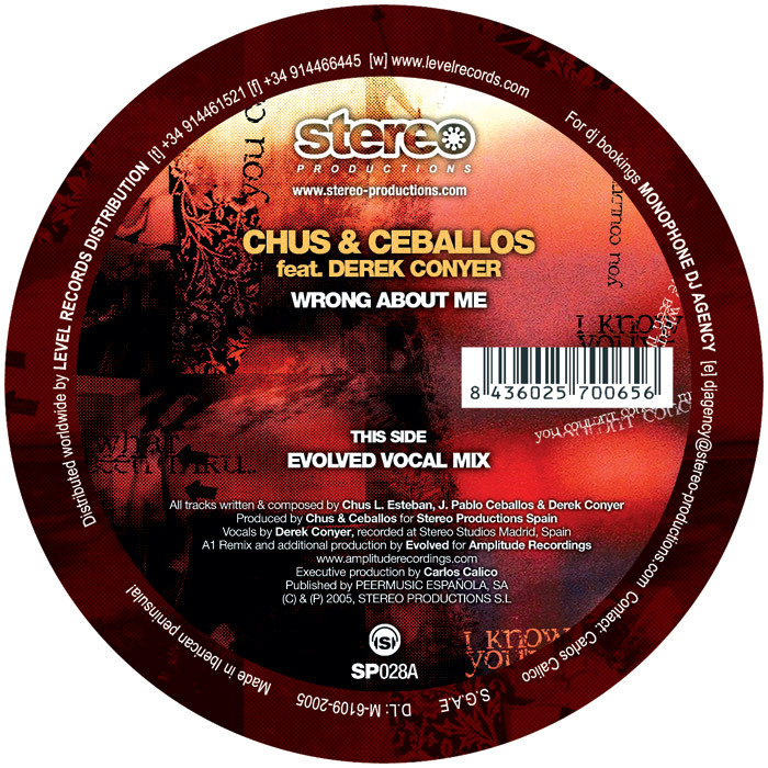 CHUS & CEBALLOS feat DEREK CONYER - Wrong About Me (Part One)