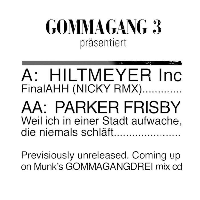 HILTMEYER INC/PARKER FRISBY - Final Ahh