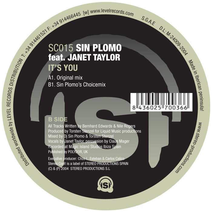 SIN PLOMO feat JANET TAYLOR - Its You