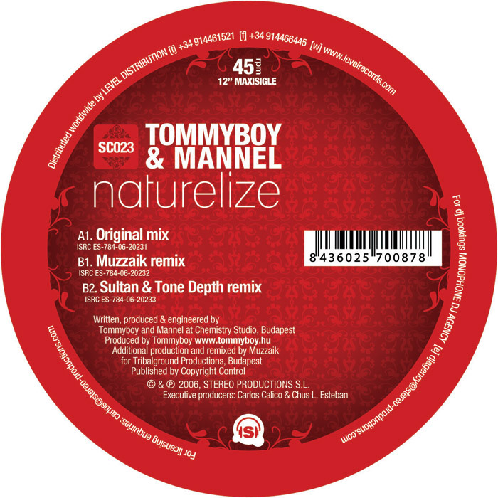 TOMMY BOY/MANNEL - Naturalize
