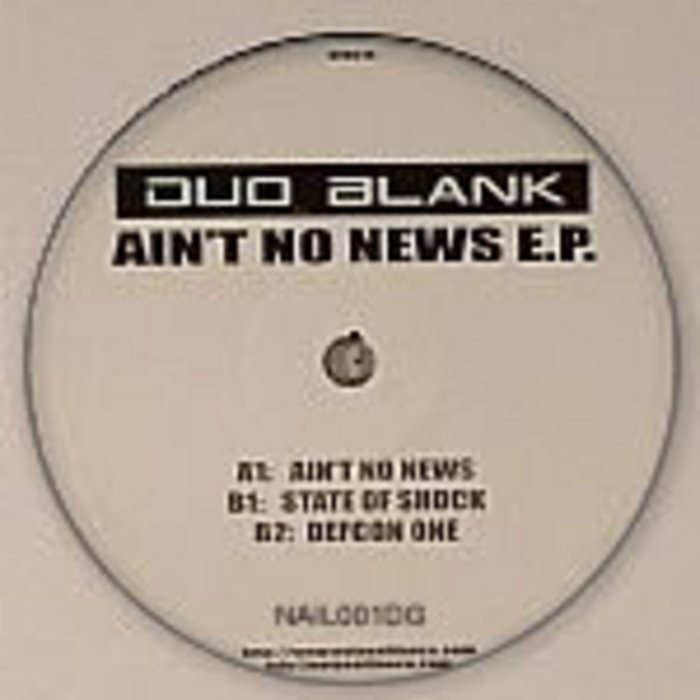 DUO BLANK - Ain't No News EP