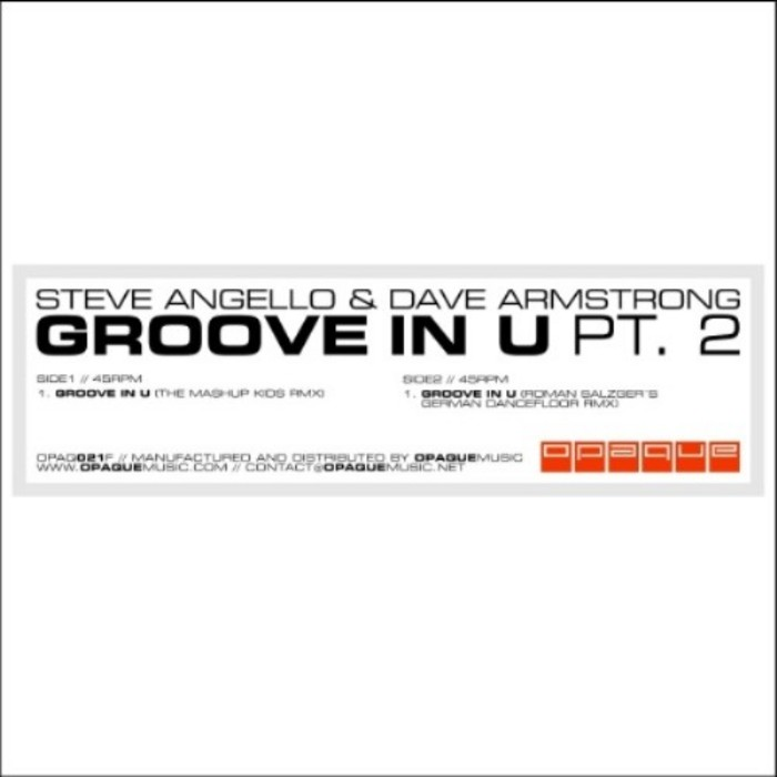ANGELLO, Steve/DAVE ARMSTRONG - Groove In U (Part 2)