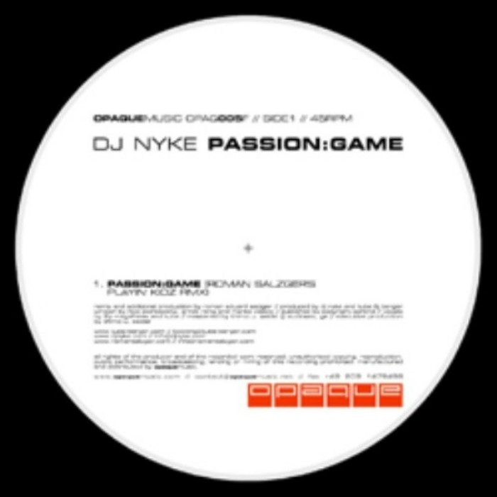 DJ NYKE - Passion:Game