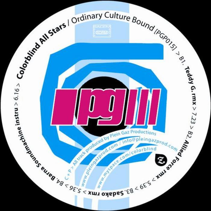 COLORBLIND ALL STARS - Ordinary Culture Bound EP