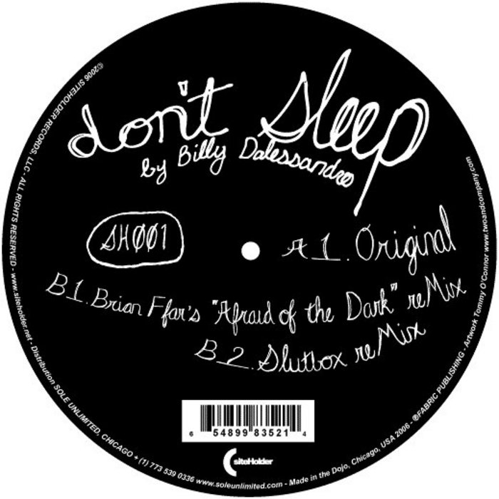 DALESSANDRO, Billy - Don't Sleep EP