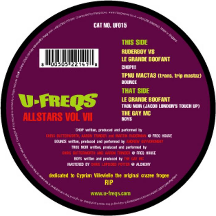 RUDERBOY vs LE GRANDE BOOFONT/TRIPMASTAZ/THE GAY MC - U-Freqs Allstars Vol 7