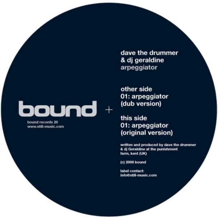 DAVE THE DRUMMER & DJ GERALDINE - Arpeggiator