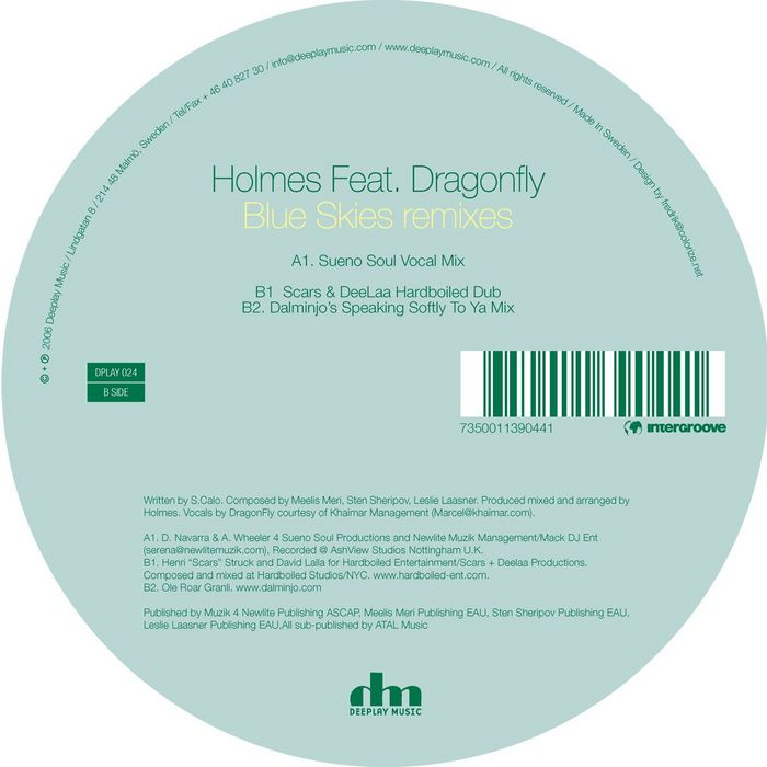 HOLMES feat DRAGONFLY - Blue Skies (remixes)