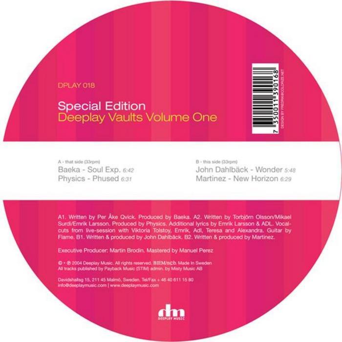 BAEKA/PHYSICS/JOHN DAHLBACK/MARTINEZ - Deeplay Vaults Vol. 1