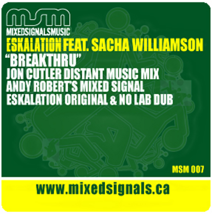 ESKALATION feat SACHA WILLIAMSON - Breakthru (inc Jon Cutler remixes)