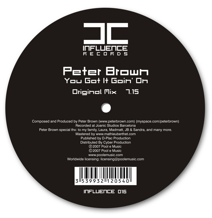 BROWN, Peter - You Got It Goin' On