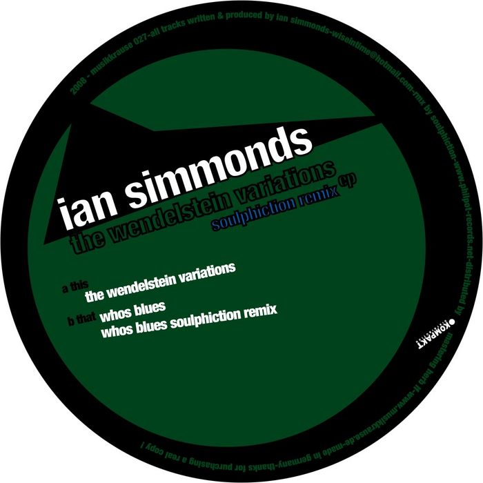 SIMMONDS, Ian - The Wendelstein Variations EP