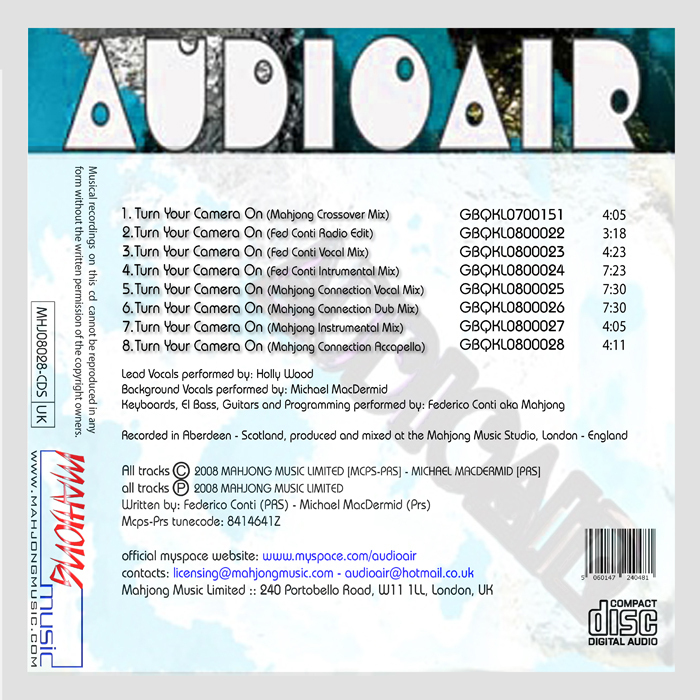 AUDIOAIR feat HOLLY WOOD - Turn Your Camera On
