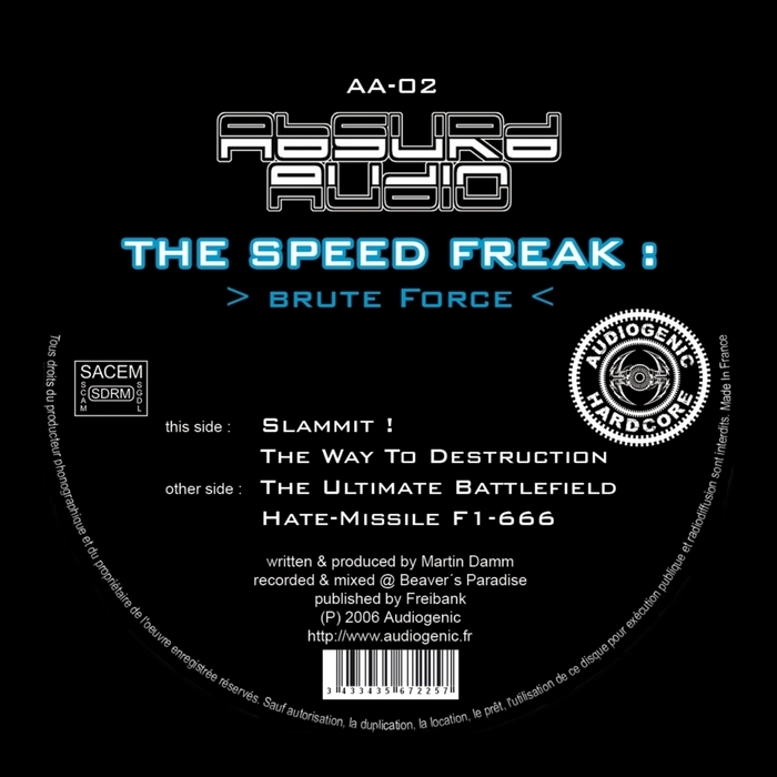 SPEED FREAK, The - Brute Force EP
