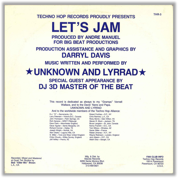 UNKNOWN DJ, The - Let's Jam