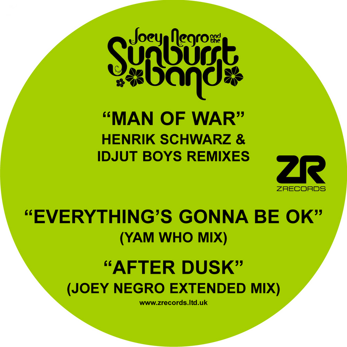SUNBURST BAND, The - Man Of War EP