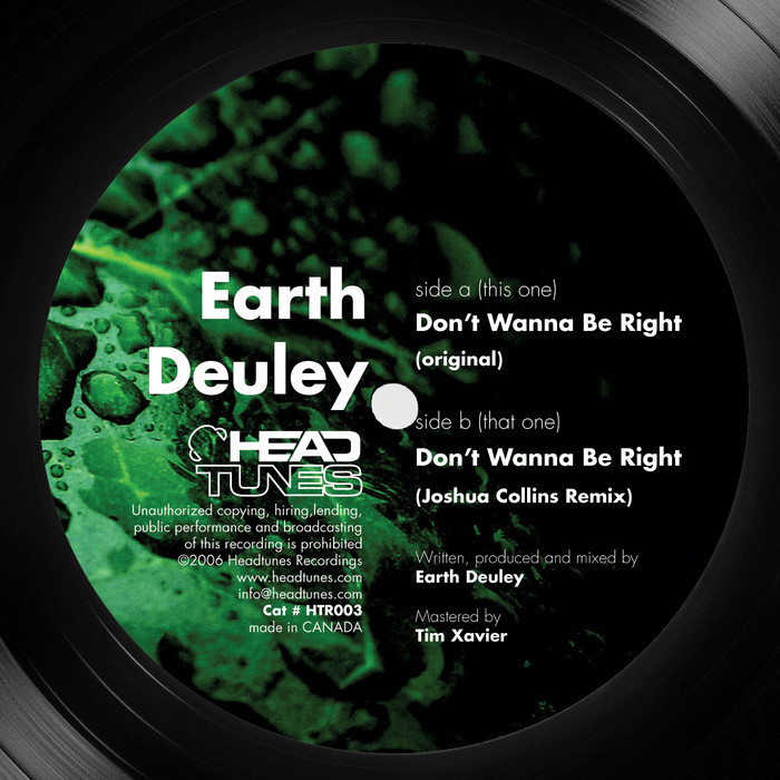 EARTH DEULEY - Don't Wanna Be Right EP